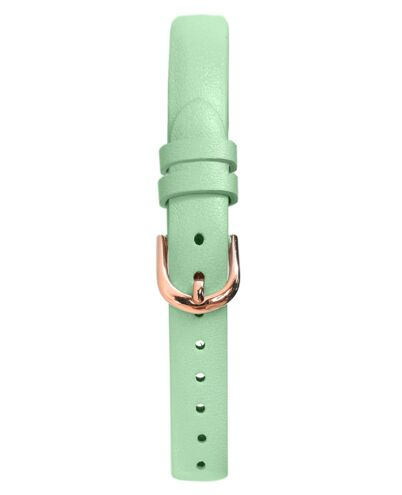 Green Leather Ladies 10MM Strap