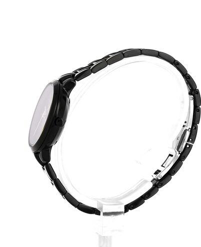 Quartz Ladies Watch AURA Black Dial Black Steel Strap