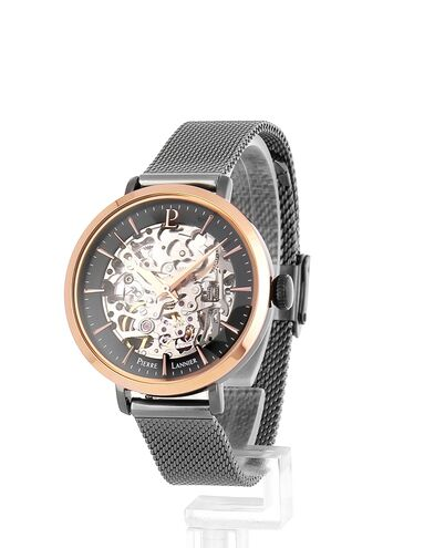 AUTOMATIC Ladies Watch AUTOMATIC Grey Dial Mesh steel Strap