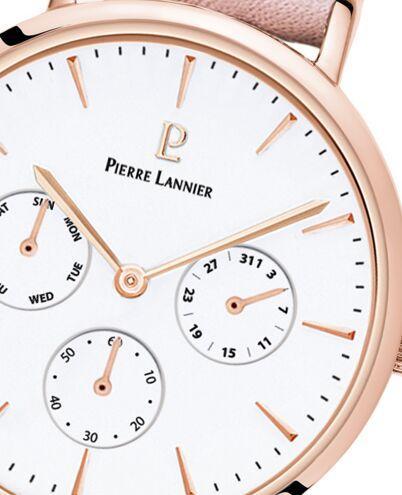 Quartz Ladies Watch SYMPHONY White Dial Rose Gold colour Leather Strap