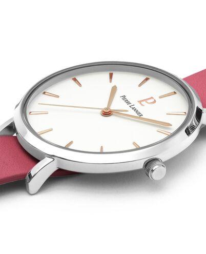 Quartz Ladies Watch REVERSIBLE White Dial Rose Gold colour Leather Strap