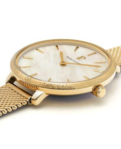 Quartz Ladies Watch CAPRICE White Dial Gold Mesh steel Strap