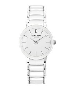 Montre Femme CERAMIC Cadran Blanc Bracelet Acier- Céramique Blanc