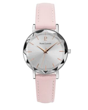 Quartz Ladies Watch MULTIPLES Silver Dial Rose Gold colour Leather Strap