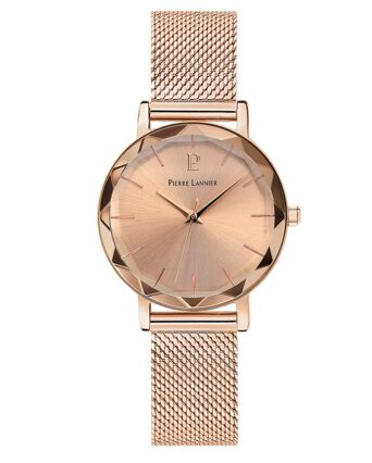 Quartz Ladies Watch MULTIPLES Dial Rose Gold colour Mesh steel Strap