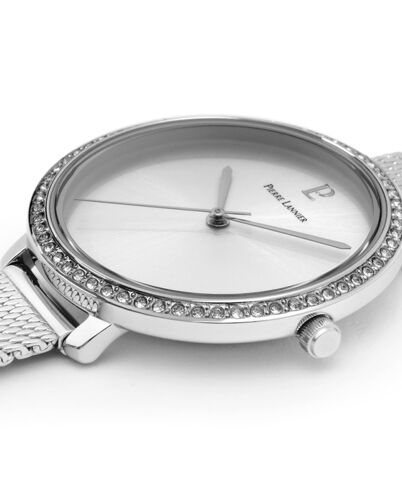 Montre Femme COUTURE Cadran Argenté Bracelet Acier milanais Argenté
