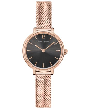 Quartz Ladies Watch NOVA Grey Dial Rose Gold colour Mesh steel Strap