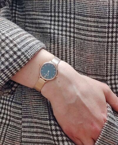 Quartz Ladies Watch NOVA Grey Dial Rose Gold colour Mesh steel Strap