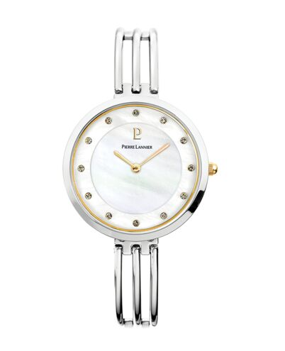 Montre Femme LIBERTY Cadran Blanc Bracelet Acier Argenté