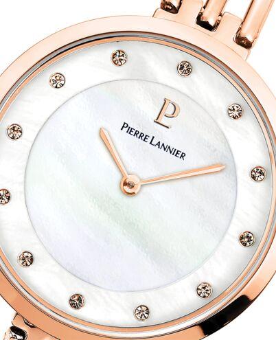 Quartz Ladies Watch LIBERTY White Dial Rose Gold colour Steel Strap