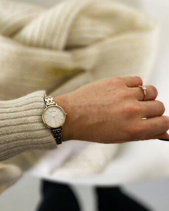 Montre Femme NOVA Cadran Blanc Bracelet Acier Doré