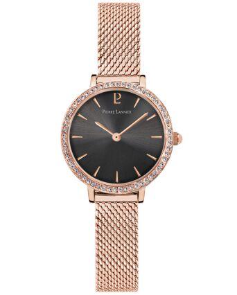 Quartz Ladies Watch NOVA Grey Dial Rose Gold colour Mesh Strap