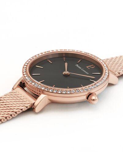 Montre Femme NOVA Cadran Gris Bracelet Acier Milanais Doré-rose
