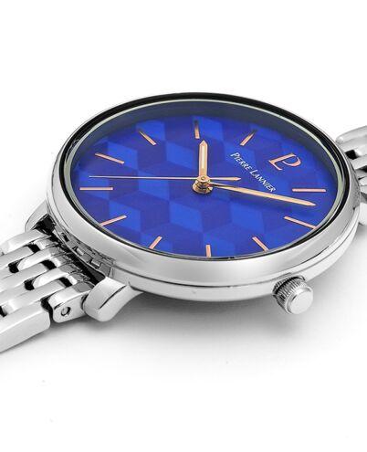 Montre Femme MIRAGE Cadran Bleu Bracelet Acier Argenté