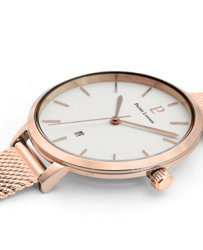 Quartz Ladies Watch ECHO White Dial Rose Gold colour Mesh Strap