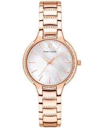 Montre Femme JOY Cadran Blanc Bracelet Acier Doré rose