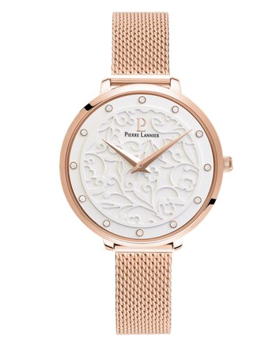 Quartz Ladies Watch EOLIA Dial Rose Gold colour Mesh steel Strap