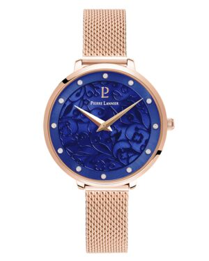 Quartz Ladies Watch EOLIA Blue Dial Rose Gold colour Mesh steel Strap