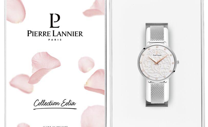 Montre Femme EOLIA Cadran Blanc Bracelet Acier milanais Argenté