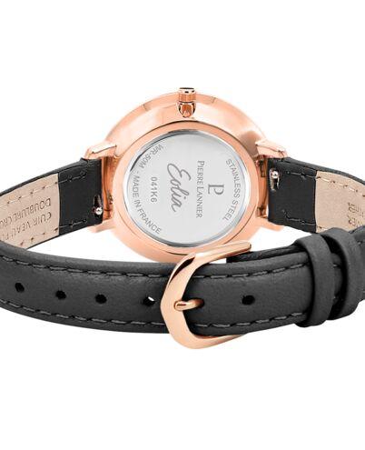 Quartz Ladies Watch EOLIA White Dial Grey Leather Strap