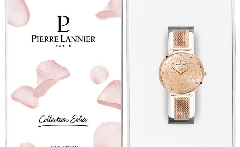 Quartz Ladies Watch EOLIA Rose Gold colour Dial Rose Gold colour Mesh Strap