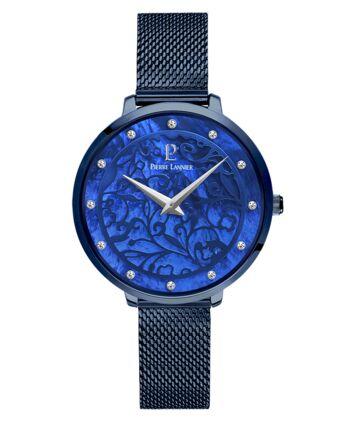 Montre Femme EOLIA Cadran Bleu Bracelet Acier Milanais Bleu