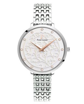 Montre Femme EOLIA Cadran Blanc Bracelet Acier Argenté