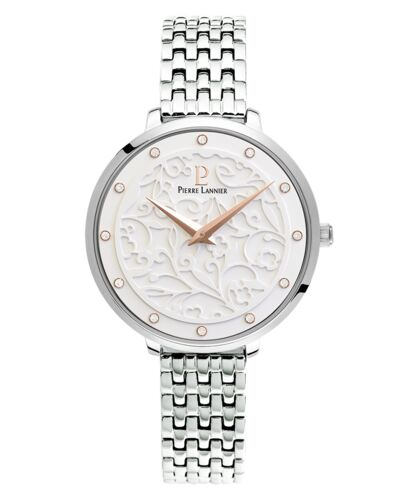 Quartz Ladies Watch EOLIA White Dial Silver Steel Strap