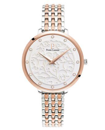 Montre Femme EOLIA Cadran Blanc Bracelet Acier Bicolore
