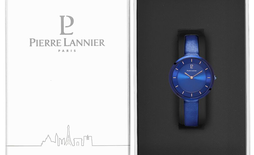 Montre Femme LIBERTY Cadran Bleu Bracelet Cuir Bleu