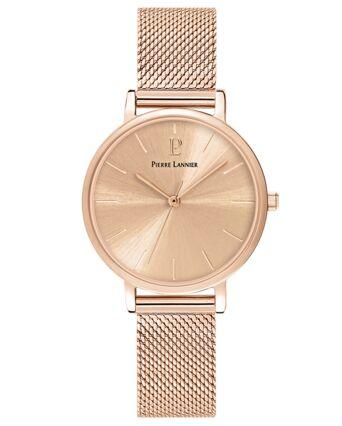 Quartz Ladies Watch SYMPHONY Rose Gold colour Dial Rose Gold colour Mesh steel Strap