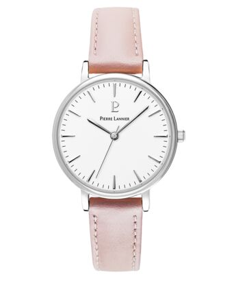 Quartz Ladies Watch SYMPHONY White Dial Rose Gold colour Leather Strap
