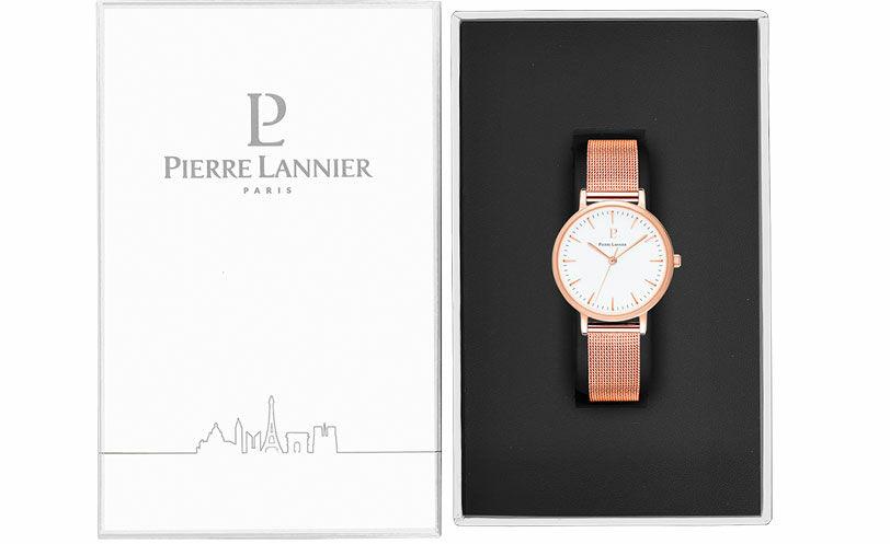Montre Femme SYMPHONY Cadran Blanc Bracelet Acier milanais Doré rose
