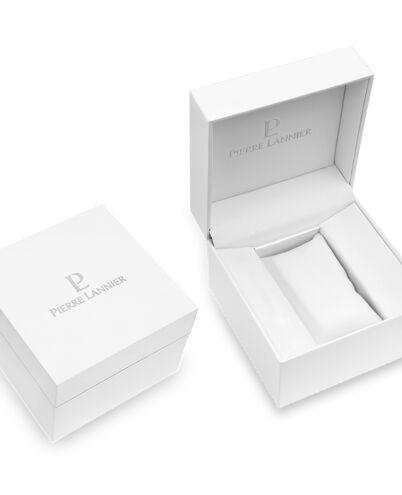 Montre Femme CRISTAL Cadran Blanc Bracelet Cuir Blanc