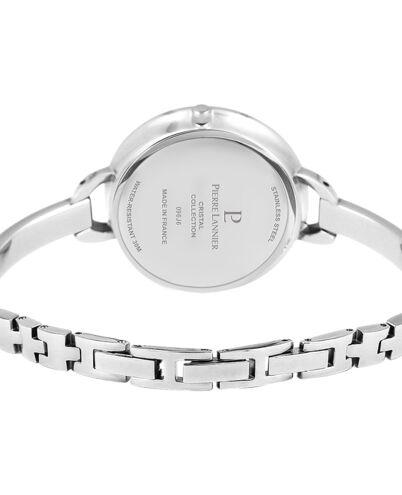 Montre Femme CRISTAL Cadran Gris Bracelet Acier Argenté
