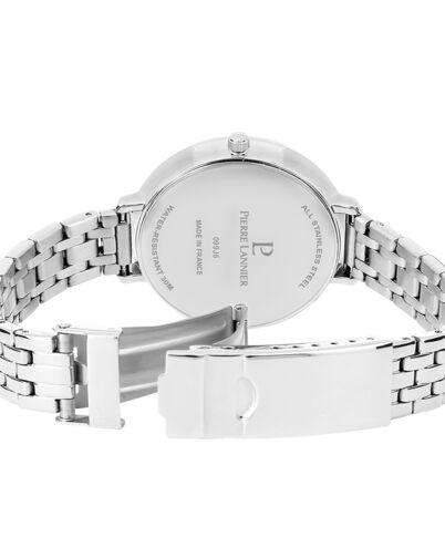 Montre Femme CRISTAL Cadran Blanc Bracelet Acier Argenté