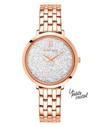 Quartz Ladies Watch PETITE CRISTAL White Dial Rose Gold colour Steel Strap
