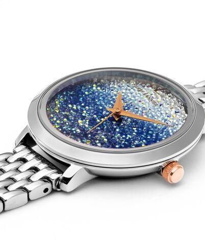 Quartz Ladies Watch Petite Cristal blue Dial steel Strap