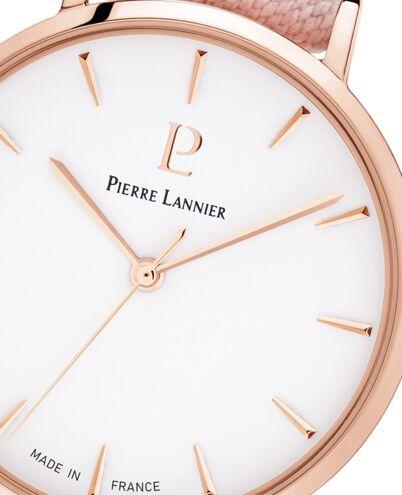 Montre Femme CATALANE Cadran Blanc Bracelet Tissu Rose