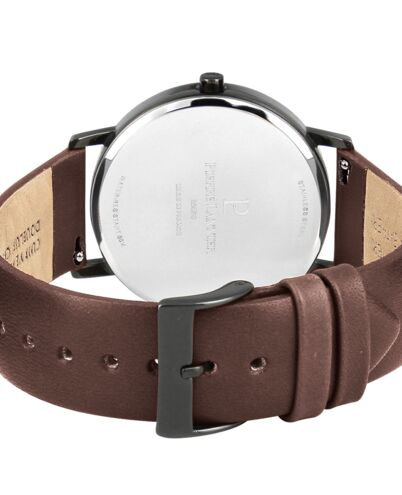 Montre Homme CITYLINE Cadran Blanc Bracelet Cuir Brun