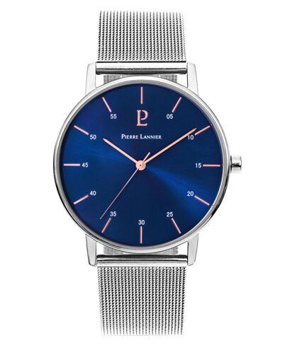 Montre Homme CITYLINE Cadran Bleu Bracelet Acier milanais Argenté
