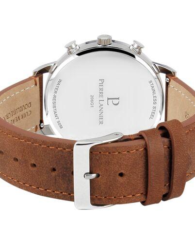 Quartz Men's Watch SPIRIT White Dial Brown Leather Strap