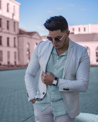 Montre Homme LECARÉ Cadran Argenté Bracelet Cuir Brun
