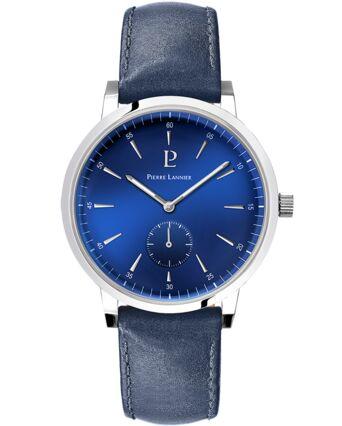 Quartz Men's Watch SPIRIT Blue Dial Blue Leather Strap