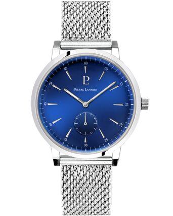 Quartz Men's Watch SPIRIT Blue Dial Silver Steel Strap