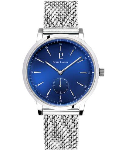 Montre Homme SPIRIT Cadran Bleu Bracelet Acier Argenté
