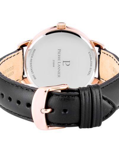 Quartz Men's Watch SPIRIT Black Dial Black Leather Strap