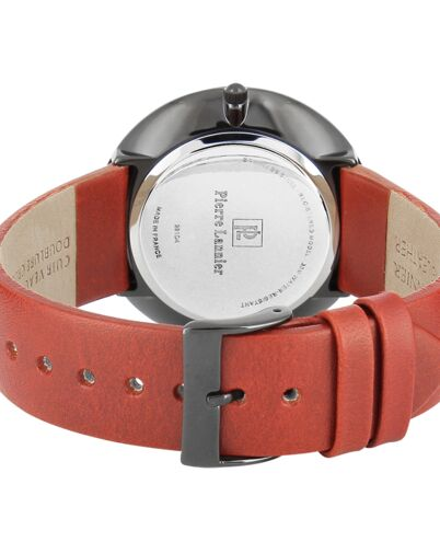Quartz Men's Watch EXTRA PLAT Black Dial Brown Leather Strap