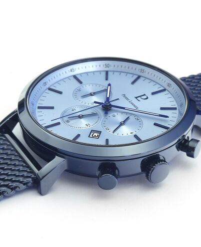 Quartz MEN Watch BARON Blue Dial Blue Mesh Strap