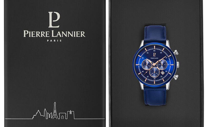 Quartz Men's Watch CAPITAL Blue Dial Blue Leather Strap